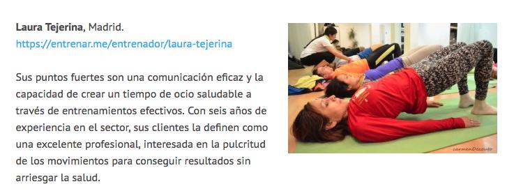 laura tejerina top 10 mejores entrenadores personales españa